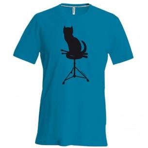 Tee-Shirt bleu CHAT - taille XXL