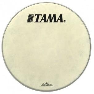 """FB24BMFS - peau de résonnance blanche 24"""" Fibre - logo Tama Starclassic"""