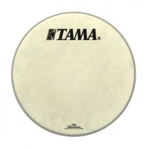 """FB20BMFS - peau de résonnance blanche 20"""" Fibre - logo Tama Starclassic"""