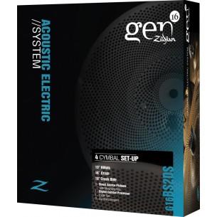 "GEN16 BS2DS - Pack cymbales 13""/16""/18"" BUFFED BRONZE - micros, module et câbles inclus"