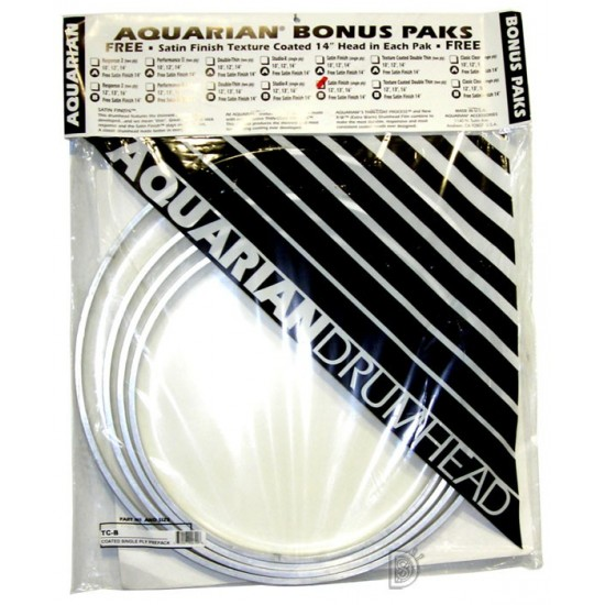 "BONUS PACK Satin Finish Standard 12"",13"",16"" + Satin Finish 14"" GRATUITE"