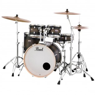 "DECADE MAPLE - 5-fûts Fusion 20"" SATIN BLACK BURST - Pack D'accessoires inclus"