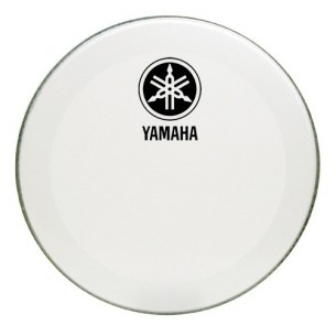 "Peau de résonance grosse-caisse 18"" - Powerstroke 3 White - New logo"