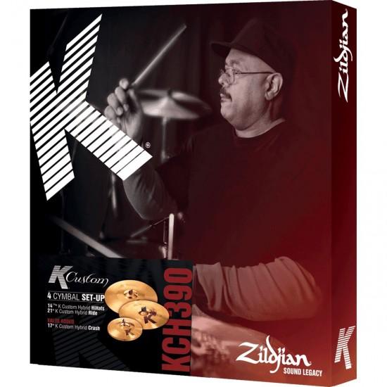 Set cymbales K' CUSTOM HYBRID HH14 1/4 + C17 + R21