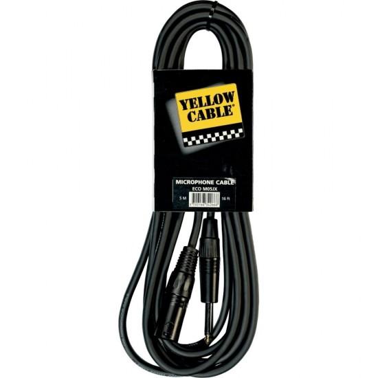 M05JX - câble XLR mâle/jack 6,35mm mono - Longueur 5m