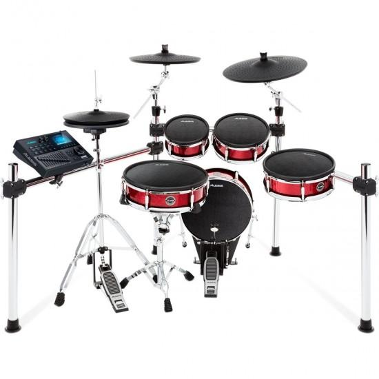 STRIKE Kit - Batterie électronique Strike 5 fûts mesh - 3 cymbales avec Real hi-hat - Rack chromé