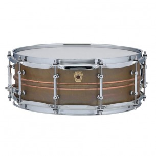 "Caisse Claire Raw Copper Phonic 14"" x 5 coquilles tubulaires, accastillage chrome"