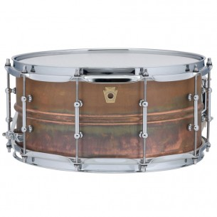 "Caisse Claire Raw Copper Phonic 14"" x 6,5 coquilles tubulaires, accastillage chrome"