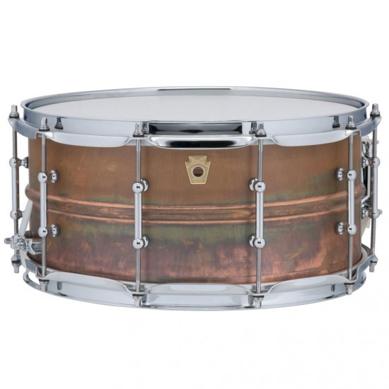 """Caisse Claire Raw Copper Phonic 14"""" x 6,5 coquilles tubulaires, accastillage chrome"""