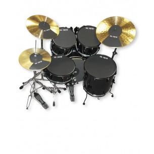 """Pack sourdine ROCK 22"""" + hi-hat et 2 cymbales"""