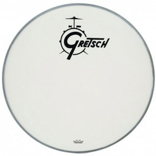 AMBASSADOR White Coated 22'' - Logo Gretsch Noir