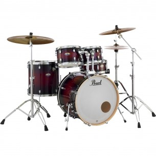 "DECADE MAPLE - 5-fûts Fusion 22"" GLOSS DEEP RED BURST - Pack D'accessoires inclus"
