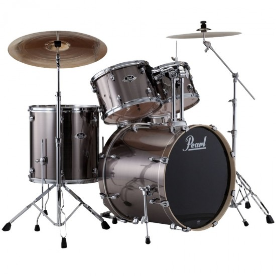 "EXPORT 5-fûts Standard 22"" Smokey Chrome - avec pack accessoires et cymbales Sabian"