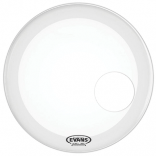 "EQ3 18"" Résonance Smooth White (percée 5"") Grosse-caisse"