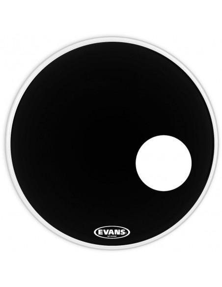 """BD22RB Peau de résonance de grosse caisse noire EQ3 22"""""""
