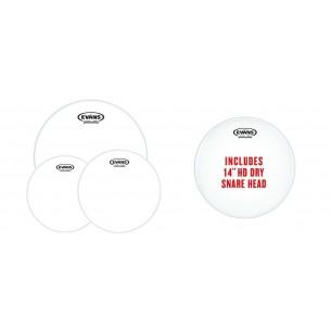 """EPP-G2HDD-F Pack Fusion G2 - Peaux transparentes (10"""" 12"""" 14"""") et peau de frappe pour caisse claire14"""" HD Dry"""