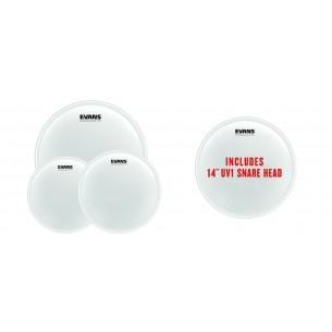 """EPP-UV1-F Pack Fusion UV1 - Peaux sablées (10"""" 12"""" 14"""") et peau de frappe pour caisse claire14"""" UV1 sablée"""