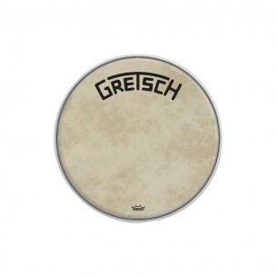 "GRDHFS18B Peau de grosse caisse Fiberskyn 18"" logo Gretsch centré"