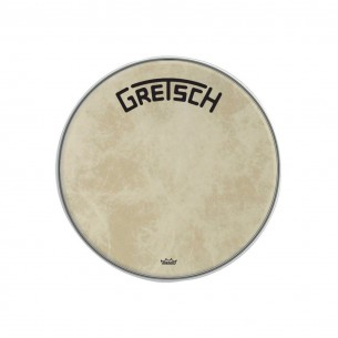 "GRDHFS20B Peau de grosse caisse Fiberskyn 20"" logo Gretsch centré"
