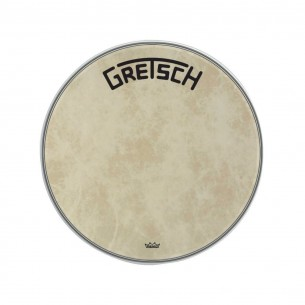 "GRDHFS22B Peau de grosse caisse Fiberskyn 22"" logo Gretsch centré"