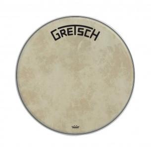"GRDHFS24B Peau de grosse caisse Fiberskyn 24"" logo Gretsch centré"