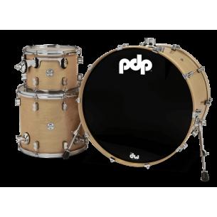 """Kit 3 fûts Concept Maple SILVER TO BLACK SPARKLE 24x18"""" BD, 12x9"""" TT, 16x14"""" FT - Cymbales et hardware non inclus"""