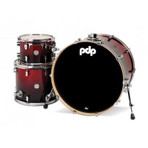 "Kit 3 fûts Concept Maple RED TO BLACK SPARKLE 24x18"" BD, 12x9"" TT, 16x14"" FT - Cymbales et hardware non inclus"