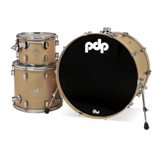 """Kit 3 fûts Concept Maple NATUREL 24x18"""" BD, 12x9"""" TT, 16x14"""" FT - Cymbales et hardware non inclus"""