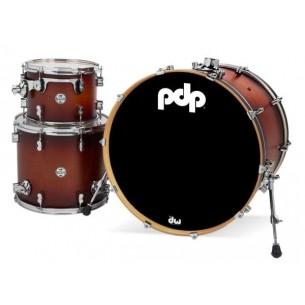 """Kit 3 fûts Concept Maple SATIN TOBACCO BURST 24x18"""" BD, 12x9"""" TT, 16x14"""" FT - Cymbales et hardware non inclus"""
