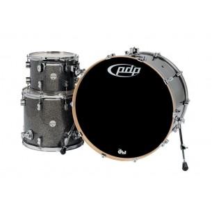 """Kit 3 fûts Concept Maple BLACK SPARKLE 24x18"""" BD, 12x9"""" TT, 16x14"""" FT - Cymbales et hardware non inclus"""