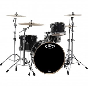 "Kit 3 fûts Concept Maple EBONY STAIN 24x18"" BD, 12x9"" TT, 16x14"" FT - Cymbales et hardware non inclus"