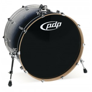 Grosse caisse Concept Maple SILVER TO BLACK SPARKLE FADE 24 x 18""