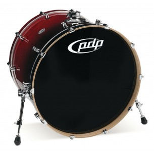 Grosse caisse Concept Maple RED TO BLACK SPARKLE FADE 24 x 18""