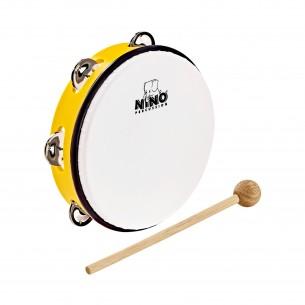 "NINO51Y - Tambourin Abs 10"" +Cymb, Jaune"
