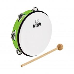 """NINO51GG - Tambourin Abs 10"""" +Cymb, Vert"""