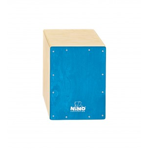 """NINO950B - Cajon 13"""", Bouleau, Facade Bleu"""