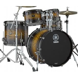 LHOROCK-UES - Kit Live Custom Hybrid Oak ROCK 22 10 12 16 + support TH945B - Uzu Earth Sunburst