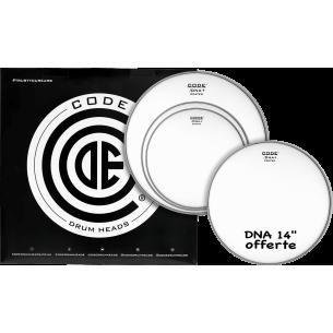 """Set de peaux TOM PACK DNA SabléeSTANDARD + Caisse claire 14"""" DNA Sablée"""