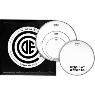 """Set de peaux TOM PACK GENERATOR Sablée ROCK + Caisse claire 14"""" DNA Sablée"""