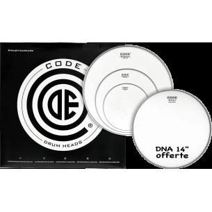 """Set de peaux TOM PACK SIGNAL Sablée ROCK + Caisse claire 14"""" DNA Sablée"""
