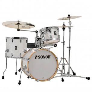 """AQ2 SAFARI WHP - Kit AQ2 4 fûts SAFARI 16"""" 10"""" 13"""" CC 13"""" avec support cymbale - WHITE PEARL"""