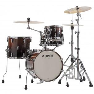"""AQ2 MARTINI BRF - Kit AQ2 4 fûts MARTINI 14"""" 8"""" 13"""" CC 12"""" avec support cymbale - BROWN FADE"""