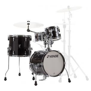 "AQ2 MARTINI TSB - Kit AQ2 4 fûts MARTINI 14"" 8"" 13"" CC 12"" avec support cymbale - TRANSPARENT STAIN BLACK"