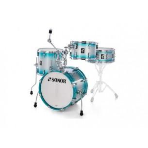 """AQ2 SAFARI ASB - Kit AQ2 4 fûts SAFARI 16"""" 10"""" 13"""" CC 13"""" avec support cymbale - AQUA SILVER BURST"""