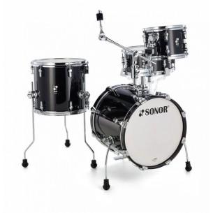 """AQ2 SAFARI TSB - Kit AQ2 4 fûts SAFARI 16"""" 10"""" 13"""" CC 13"""" avec support cymbale - TRANSPARENT STAIN BLACK"""