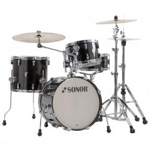 "AQ2 BOP TSB - Kit AQ2 4 fûts BOP 18"" 12"" 14"" CC 14"" avec support cymbale - TRANSPARENT STAIN BLACK"