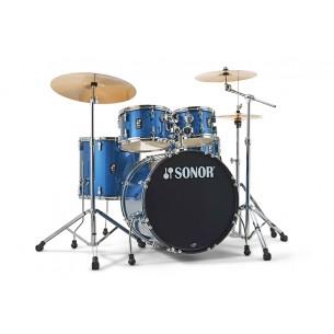 """Kit AQX Stage 22"""" 5 fûts BLUE OCEAN SPARKLE avec pack accessoires et cymbales"""