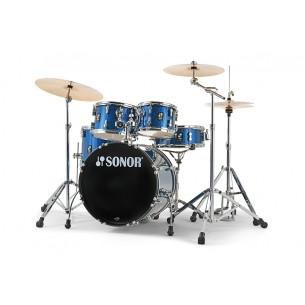 """Kit AQX Studio 20"""" 5 fûts RED MOON SPARKLE avec pack accessoires et cymbales"""