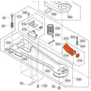 V8647600 - Switch Rubber Assembly - Marteau caoutchouc pour HH65