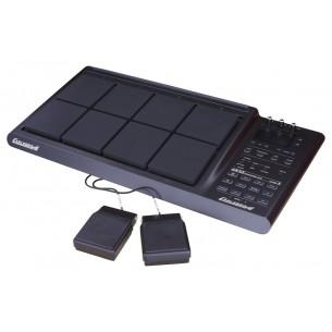 OKTO A - octuple pad de percussion avec 2 pédales, stand et sac de transport